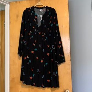 Old Navy floral print swing dress